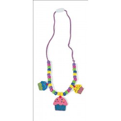 Cute Cup Cakes Easy Necklace Kit