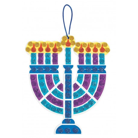 GLITTER MOSAIC MENORAH CRAFT